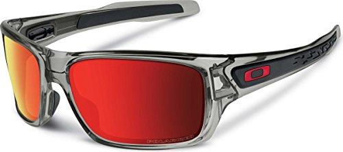 Oakley-Sonnenbrille-Turbine Herren-Grey Ink Ruby Iridium Dunkelblau