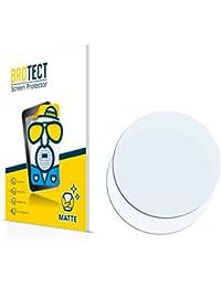 2x BROTECT Matte Protector Pantalla para Relojes (circular, Diámetro: 40mm) Protector Mate, Película Antireflejos