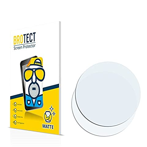 2x BROTECT Matte Film Protection pour Montres (circulaire, Diamètre: 40mm) Protection Ecran - Mat, (Invisibile Opaco)
