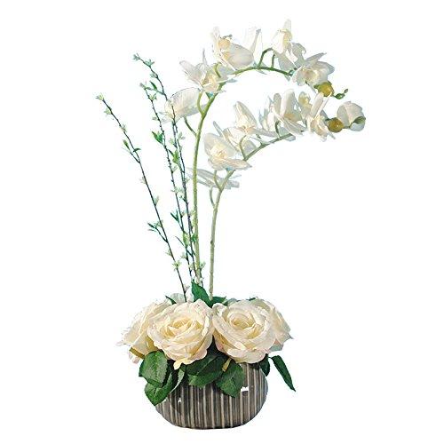 JHDH2-la falena orchid Rose arte cinese emulazione boutonniere flower kit, decorazioni floreali del salotto di seta arte floreale Fiori artificiali , Bianco