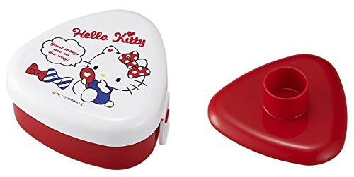 OSK Sanrio Hello Kitty Portable Onigiri Triangle Sushi Rice Ball Mold Press Maker Bento Case Box Japan Import Made in Japan