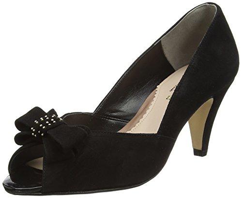 Van Dal Women's Abbey Open-Toe Heels, Black (Black), 7 UK