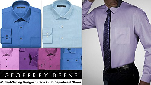 Geoffrey Beene Mens Shirt Tailored Fitted Cotton Rich Easycare Long Sleeve