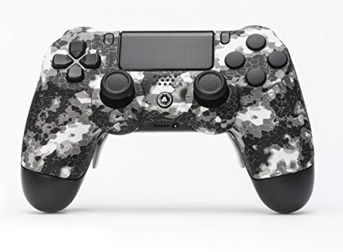 AimControllers PS4 Custom Wireless Controller, PlayStation 4 Personalized Gamepad with 4 Paddles, DigiCamo White [video game]