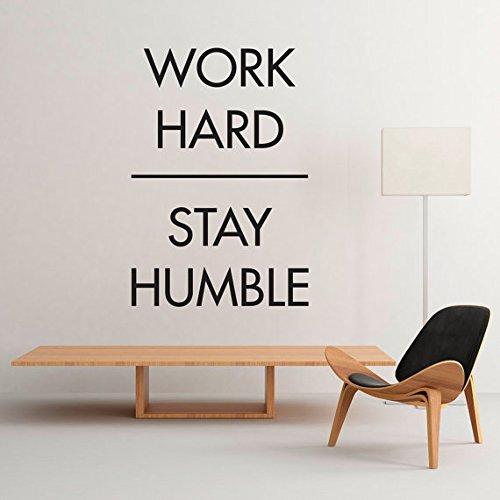 Office de décoration d'autocollant rigide Stay Humble Ellymo-Intérieur 47,2 x 120 cm x 175 cm