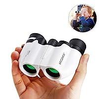 8X21 Kids Binoculars, BRIGENIUSCompact Shock Proof Binocular for Kids - Best Gifts - Bird Watching - Presents for Kids - Children Gifts - Boys and Girls - Outdoor Play - Hiking - Camping Gear