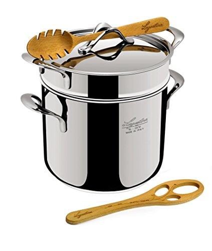 Lagostina La Pasta Set Pastaiola - Pentola per pasta, in acciaio INOX, 22 cm, 6 litri