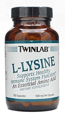 Twinlab L-Lysine 500mg (100 Capsules) from Twinlab