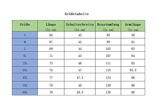 Hoodie mit Stoffdruck - Stylish BOY Grau 4XL Law-1