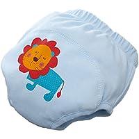 Aseo bebé pantalones de entrenamiento Pañal de dibujos animados ropa interior de algodón pañal de tela 1 PC