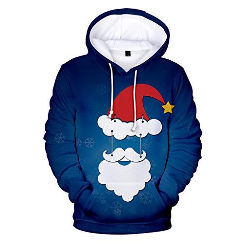 Unisex Weihnachtspullover ☆Elecenty☆ Weihnachts Strickpullover Weihnachtspulli Sweatshirt Pullover Oberseiten Bluse T-Shirt Langarmshirt -