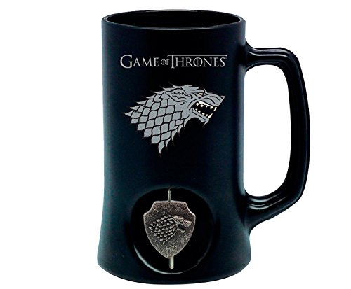 Game Of Thrones Pitcher / Beer Glass with Logo 3D Rotary House Stark
