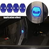 4pcs Blau Reflektierend Auto Türschlösser Schutzabdeckung Auto Innenraum Schutz Zubehör Türen Abdeckungen Für Tiguan Polo Passat B5 B6 B7 Octavia A7 Fabia Superb Golf 6 MK6 MK7 Golf 7 Jetta MK5 MK6