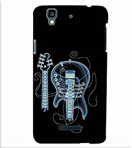 Fuson Designer Back Case Cover for YU Yureka Plus :: Yu Yureka Plus YU5510A (The broken guitar theme)