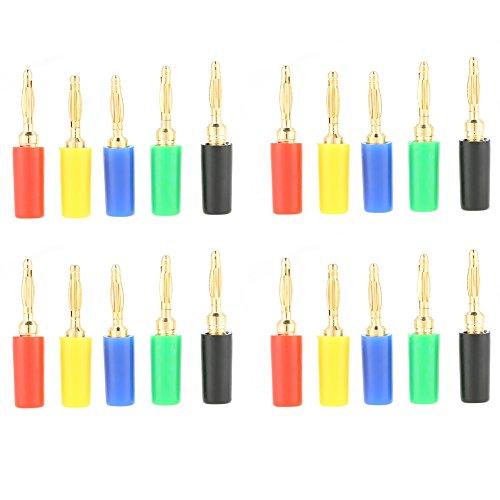 Bananenstecker, 20 Teile/satz 2mm Hohe Qualität Jack Test Sonden Stecker für Verstärker