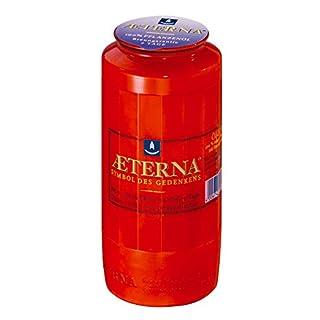 20 Stück Grablicht-Kerzen, rot 15x6,5 cm - 3781 - Brenndauer ca. 7 Tage – Öllicht für Grablaternen - Aeterna Grabkerzen …