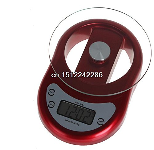 multifonction Digital LCD écran Home balance de cuisine outils de mesure avec compte à rebours et fonction Horloge
