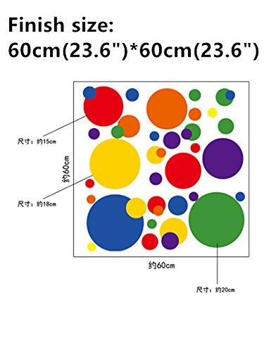Mian Farbige Kreise Punkte Wand Aufkleber DIY Wandbild Art Aufkleber, Selbstklebend, Abnehmbaren PVC Wall Paper Decor, 19,7inch27.6Zoll Original