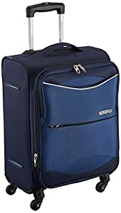 American Tourister Brookfield Polyester 56 cms Marine Blue Carry-On (AMT Brookfield SP56 Marine BLU)