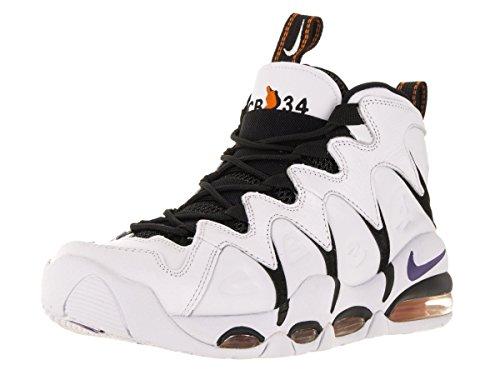 Nike Air Max Cb34, espadrilles de basket-ball homme Multicolore - Blanco / Morado / Negro / Naranja (White / Vrsty Prpl-Blk-Orng Blz)