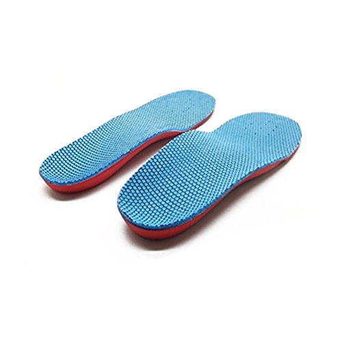 Pixnor Orthotic Arch Support Flat Foot Flatfoot Correction Foot Pain Relief Shoe Insole for Children Kids Size L