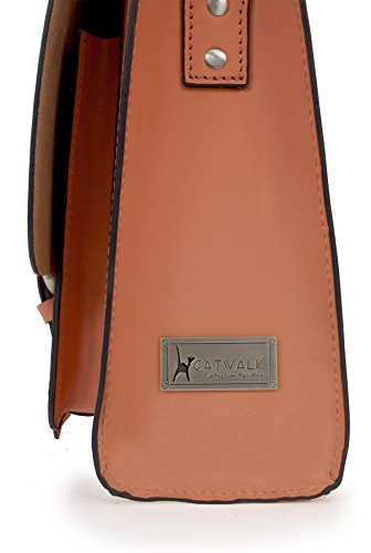 Sac de travail Sacocheen cuir signé Catwalk Collection - Canterbury Corail