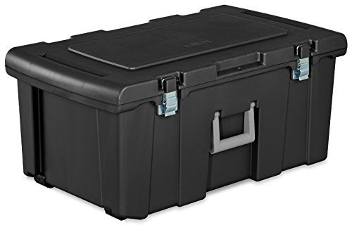 sterilite-18429002-footlocker-lid-and-base-with-titanium-handle-black-pack-of-2-by-sterilite