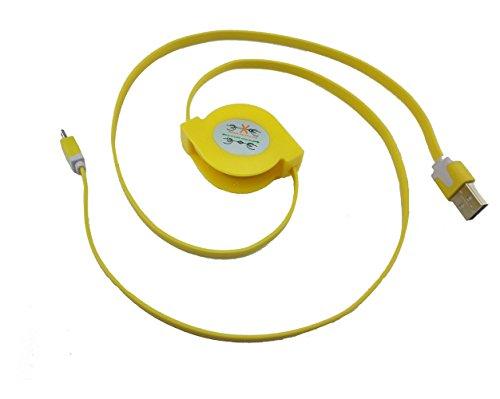 5Stück Multicolor ausziehbar Micro USB Flach Ladekabel/Datenkabel/Kabel für Android-Telefone (5x) - Bild 2