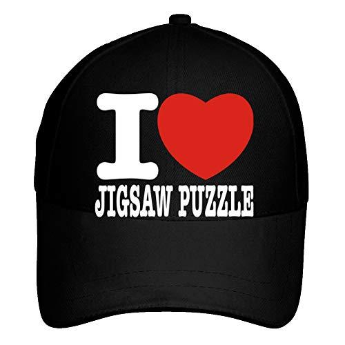 Idakoos I Love Jigsaw Puzzle Bold Font - Ocio - Gorra De Béisbol