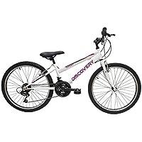 """Discovery DP068 - Bicicleta Montaña Mountainbike B.T.T. 24"""". Cambio fricción, 18 Velocidades. Para niña"""