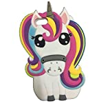 EatMyCase Supercute iPOD TOUCH 5 & 6 Cartoon Case Cover 3D Collection with EatMyCase Pen Stylus (16: Rainbow Unicorn)