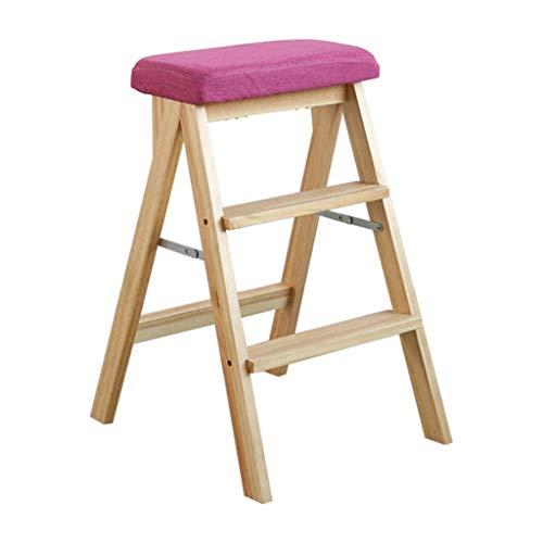 Hocker@ Gartenmöbel & Zubehör Aufsteigender Bockleiter Klapphocker Massivholzleiter Klappstuhl Für Häusliche Küche Einfach Kreativer Kletterhocker Multifunktions-Kreativleiter