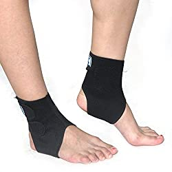 Generic Black, Free size : SHUCI 1 PCS Ankle Brace Support Elastic Safety Health Fasciitis Brace Protection Ankle Support Support Sport Gym Protects ZFR-04