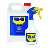 5 L Liter WD-40 Großgebinde Multifunktionsöl Öl Multifunktionsprodukt Vielzweckspray Schmiermittel Rostlöser Kriechöl Sprühöl Schmieröl Kanister inkl. Handzerstäuber (600ml leer)