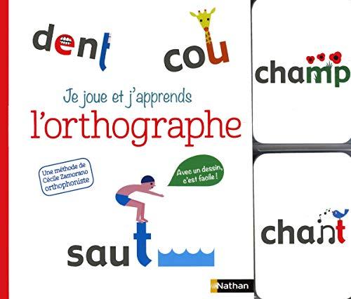 Je joue et j'apprends l'orthographe - coffret livre + cartes - Dès 5 ans par Cécile Zamorano