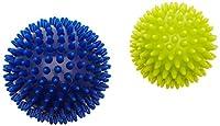 HUDORA Fitness Massage-Ball Igel Set, blau/gelb - Noppenball - 76769