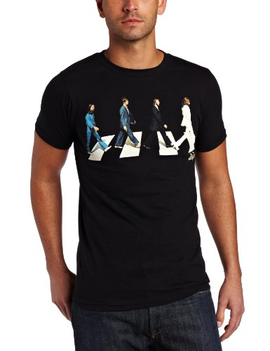 FEA - Camiseta - Hombre de color Negro de talla Large - Fea Uomo The Beatles Golden Slumbers (Camiseta), Nero, Large