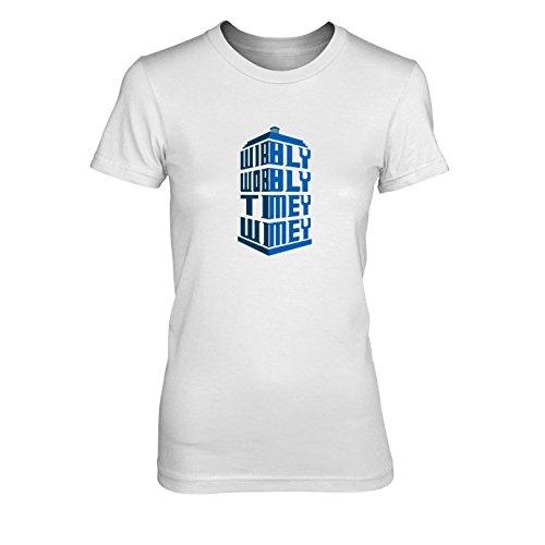 Wibbly Wobbly Timey Wimey - Damen T-Shirt, Größe: XL, Farbe: weiß