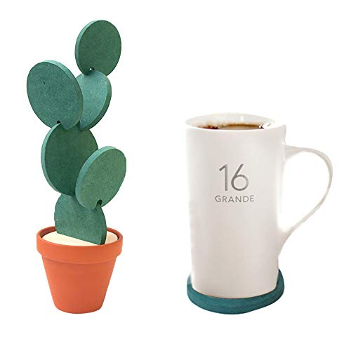 MA87 Kreative DIY Anti-Rutsch-Isolation Cup Holder Lagerung Cactus Coaster
