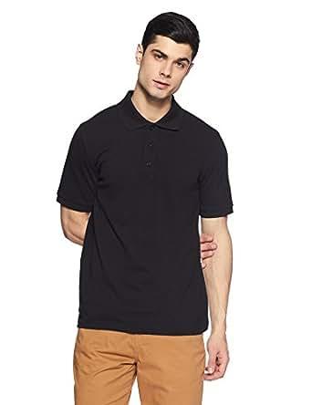 Puma Men's Regular Fit Cotton Polo (82288517_Cotton Black_Small)