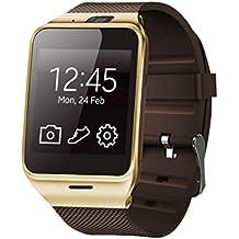 Reloj Inteligente,Xinan GV18 Relojs Bluetooth del Teléfono GSM NFC para Samsung iPhone (Oro)