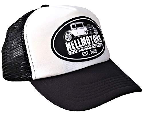 HELLMOTORS Fast Shop est 2006 Trucker Mesh Cap Unisex Schwarz/Weiß