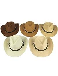 Sombrero De Panamá Hombres Adulto Sombrero Vaquero De Tejido Paja Bastante  De Verano De ala Ancha Sombrero para… c722145cea2
