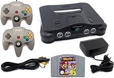 Nintendo 64 - Konsole + Super Smash Bros + 2 Controller