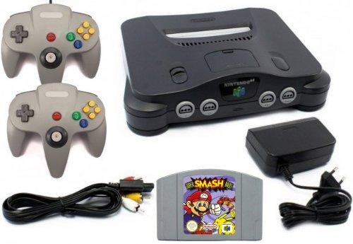 Nintendo 64 - Konsole + Super Smash Bros + 2 Controller (Super Controller 64 Nintendo)