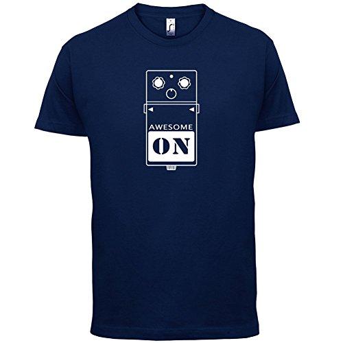 Gitarren Pedal - Herren T-Shirt - 13 Farben Navy
