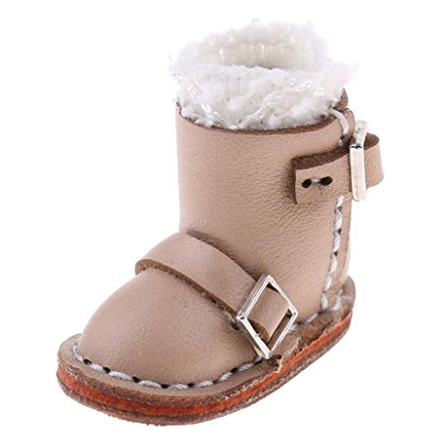 Tradico® Fashion Shoes Apricot Buckle Boots for 12inch Blythe Dolls Clothes Accessory