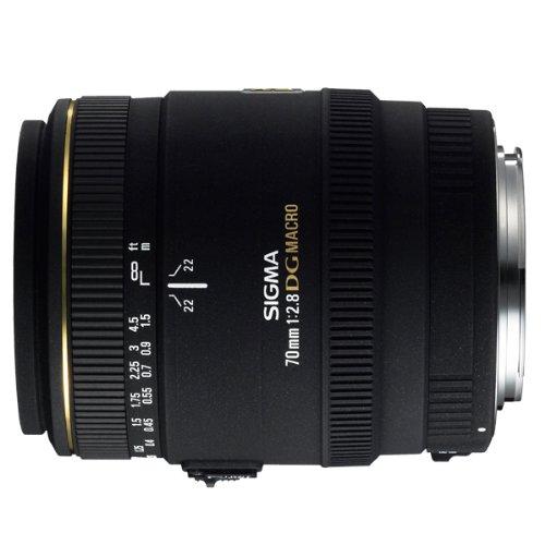 Sigma 70mm f/2.8 EX DG Macro CAF - Objetivo para Canon (distancia focal fija 70mm, apertura f/2.8, diámetro: 62mm) color negro - Para Canon