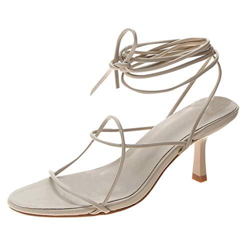 ODRD Sandalen Shoes Damenmode Lässig Krawatte im Freien Hausschuhe High Heel Sandalen Party Hochzeit 5-8cm Schuhe Strandschuhe Freizeitschuhe Turnschuhe Hausschuhe Pumps Slipper