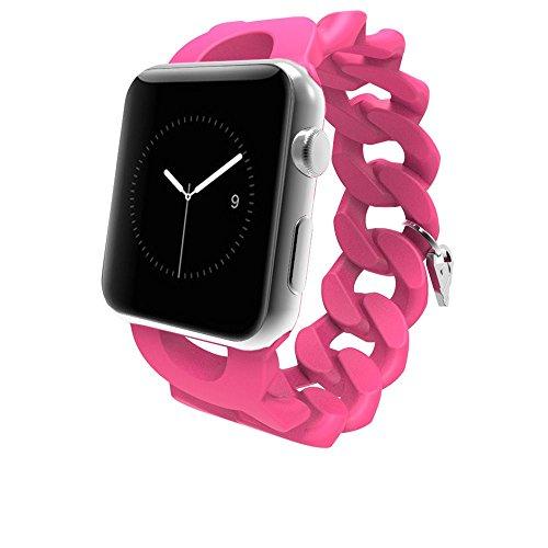Case-Mate Turnlock Strap Armband für alle Apple Watch Modelle mit 38mm [Armreif-Design   Flexibles Elastomer   Metallanhänger] - CM032777